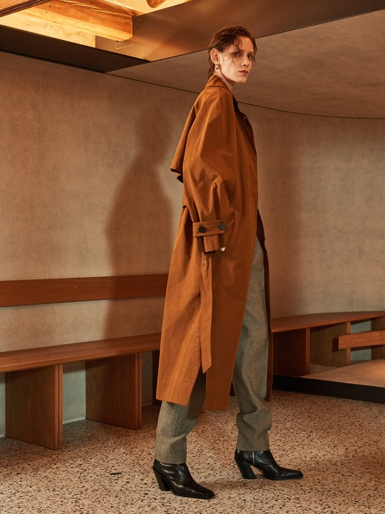 OLMETEX Oversized Belted Trench Coat_Brick